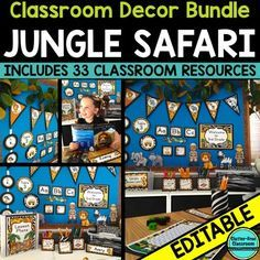 Imagine going back to school this year to a classroom decorated cohesively. You'll feel like you have it all together when you see how your editable teacher binder cover coordinates with your classroom jobs chart, schedule cards, word wall and 29 other resources in the room.