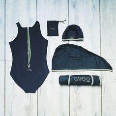 Matchy-matchy  Le summum du chic CARDO ? Assortir son joli maillot CARDODIVE à son bonnet, sa serviette de bain et son CARDOTICO. #cardoparis #swimwear #maillotdebain #cardo