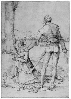 Artist: Baldung Grien, Hans, Title: Enthaupttung der Hl. Barbara, Date: 1505
