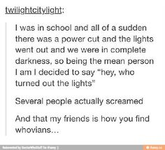 Ah Whovians... I can only imagine how the supernatural fandom reacted xD <-- HAHAHAHA THEY PROBABLY GRABBED THE SALT AND HIT THE FLOOR
