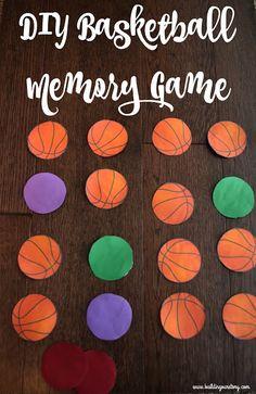 DIY Basketball Memory Game, DIY Basketball Memory Game, basketball memory game, basketball themed games, DIY memory game, free printable basketball memory game, #GameForBasketball #CollectiveBias , basketball, #ad