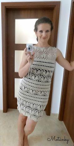 Motánky: Háčkované šaty na slavnostní příležitosti
