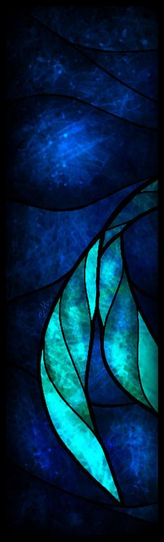 There will absolutely be windows like this in my dream house. Little Mermaid Tetraptych, Panel 1 (Digital Art) - Mandie Manzano