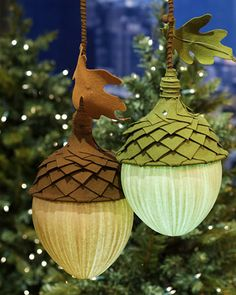 Cool DIY Acorn Lights...these are actually quite large as they use a large balloon as a form.