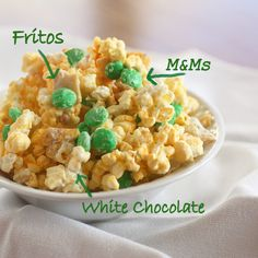 White Chocolate Frito Popcorn  Not only does this look good, but also very different.  This blog has some interesting recipes.