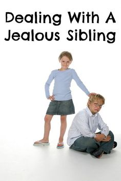 """How do you deal with sibling jealousy, especially when your """"baby"""" is jealous of your older kids? Check out our parenting tips to make the situation easier."""