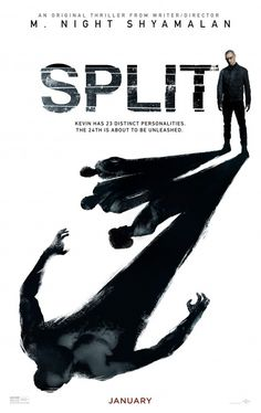 Split (2017) 6/10 Pros - Casey and Kevin share trauma, mental illness, horror of psychosis, promising, McAvoy kills it, Cons - too many personalities, weird cannibal superhuman part, psychiatry aspect is boring