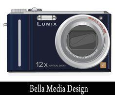 Lumix Camera Vector Art | Photo Camera Vector Free Download