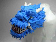 The Dragon - Part 2 - instead of clay fondant. Fondant Figures, 3d Figures, Fondant Toppers, Fondant Cakes, Fondant Bow, Fondant Flowers, Cake Topper Tutorial, Fondant Tutorial, Cake Decorating Techniques
