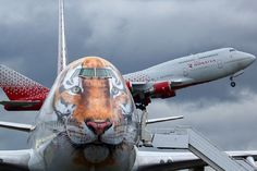Tiger painted Rossiya Airlines Boeing-747-400