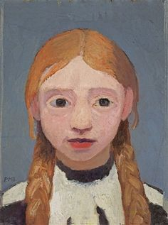 Paula Modersohn-Becker (Ger. 1876-1907) Little Blonde Girl (1905) The daughter of Paula's husband Otto Modersohn.