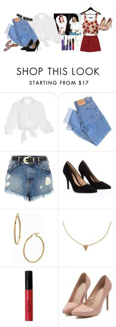 """""""Selena Quintanilla And Her Pizza 🍕"""" by axelyamary ❤ liked on Polyvore featuring Johanna Ortiz, Levi's, River Island, Lipsy, Bony Levy, Lord & Berry and Monki"""
