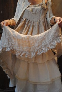 mmm. I want all of my pajamas and bed sheets and pillowcases to be covered in vintage French linen!! Oh la la!