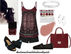 """""""Burgundy paisley"""" by enjoytheview on Polyvore"""