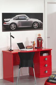 Γραφείο που συνδυάζεται τέλεια με τα Κρεβάτια – Αυτοκίνητα και τα έπιπλα της σειράς Car δημιουργώντας το ιδανικό δωμάτιο για όλα τα παιδιά που λατρεύουν τα αυτοκίνητα! Office Desk, Corner Desk, Car, Kids, Athens, Furniture, Home Decor, Products, Desk