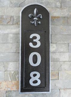 Fleur De Lis House Numbers