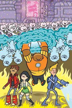 Bravest Warriors cover C by Alec Longstreth Pendleton Ward, Soft Tacos, Bravest Warriors, Geek Art, Comic Covers, Sword Art Online, Second Life, Cartoon Network, Adventure Time