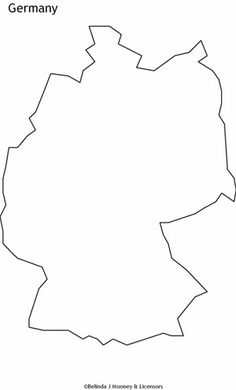 Germany Outline Germany Outline Map Stuff Pinterest Tattoo - Germany map outline
