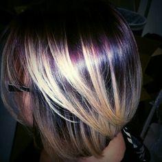 Violet blonde ombre