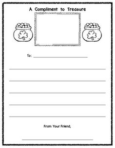 Writing Classroom Compliments - 6 Different Pages to encourage writing compliments to each other in the classroom. $