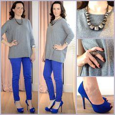 Combinação do dia: azul Klein + cinza
