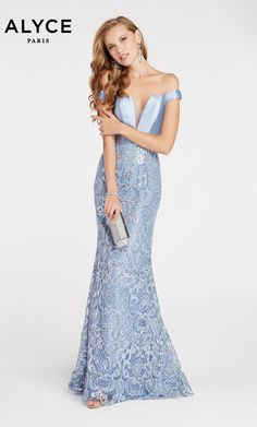 Alyce Prom 60495 The fabric in this Alyce Paris Prom style is Mikado/Lace Bridesmaid Dresses, Prom Dresses, Summer Dresses, Formal Dresses, Trumpet Skirt, Formal Wear, Special Occasion Dresses, Night Gown, Strapless Dress Formal