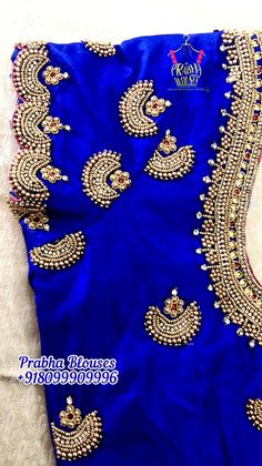 Netted Blouse Designs, Cutwork Blouse Designs, Wedding Saree Blouse Designs, Simple Blouse Designs, Embroidery Neck Designs, Hand Work Embroidery, Border Embroidery, Magam Work Designs, Patch Work Blouse Designs