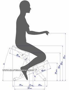 Wooden kneeling chair - Ergonomy