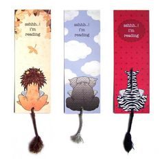 Animal bookmarks are a fabulous gift for book lovers Cool Bookmarks, Creative Bookmarks, Bookmark Craft, Bookmark Ideas, Paper Bookmarks, Reading Bookmarks, Bookmarks For Books, Marque Page, Bookmarks