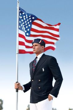FILE - This shows U.S. Olympic swimmer Ryan Lochte modeling the the official Team USA Opening Ceremony Parade uniform