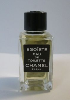 Chanel Egoiste eau de toilette Miniature Square Bottle (Full No Box) Vintage Men #CHANEL