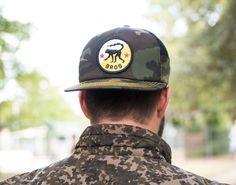 Band of BROS Camo Snapback Black Tree, Snapback, Camo, Captain Hat, Baseball Hats, Men, Outdoor, Fashion, Camouflage