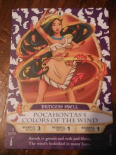 Disney Sorcerers of The Magic Kingdom Card 51 70 Pocahontas's Colors of The Wind | eBay