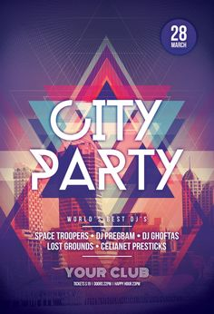 City Party Flyer by styleWish on Graphicriver (PSD Template)