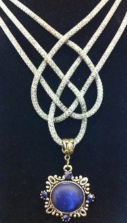 This beautiful SilverSilk Necklace is designed by Hans Bennion. I love it