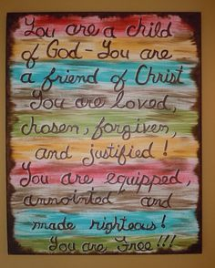 Who I am in Christ Painting 16x20 Painted Canvas by STROKESofFAITH, $35.00