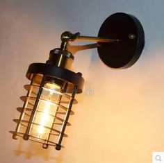 Retro Loft Style Industrial Wall Lamp Vintage LED Edison Wall Sconce Arandela Lamparas De Pared #Affiliate