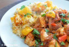 Balsamic Chicken with Tomatoes and Roasted Butternut Squash Brown Rice Slimming… Slimming World Recipes Syn Free, Butternut Squash Risotto, Slimming Eats, Cooking Recipes, Healthy Recipes, Free Recipes, Balsamic Chicken, Dinner Dishes, Main Dishes