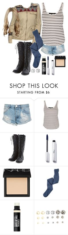 """Malia Tate 4x12 """"Smoke and Mirrors"""" Outfit by lili-c on Polyvore featuring rag & bone, K. Bell, One Teaspoon, H&M, NARS Cosmetics and Bare Escentuals"""