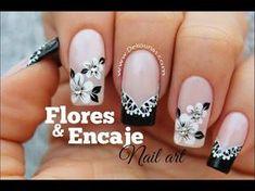 Decoración de uñas flores y encaje FACIL | DEKO UÑAS | Moda en tus uñas