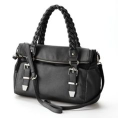 Apt.+9+Brady+Braided+Fold-Over+Satchel