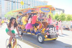 The SLUG party is pedal powered at the Utah Pride Parade 2014 -- Photo by John Barkiple.