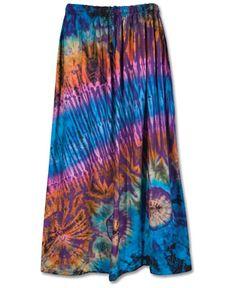 Auragaia daydreamer shibori upcycled wide leg skort skirt for Order tie dye roses online