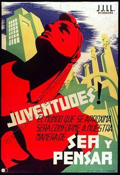 La guerra es va iniciar per culpa d'un cop d'Estat (17 de juliol de 1936) Aquests cartells incitaven a la població a canviar d'idees.