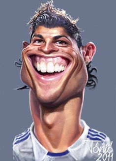 ツ by iSantano - cristiano-ronaldo- Caricature Artist, Caricature Drawing, Funny Caricatures, Celebrity Caricatures, Cristiano Ronaldo Wallpapers, Ronaldo Real Madrid, Famous Cartoons, Portraits, Cartoon Wallpaper