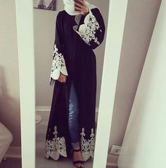 Most popular tags for this image include: hijab, style and abaya Arab Fashion, Islamic Fashion, Muslim Fashion, Modest Fashion, Fashion Dresses, Fashion Wear, Hijab Style, Hijab Chic, Eid Outfits