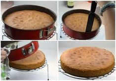 παντεσπάνι - αφαιρεση φόρμας Cornbread, Pancakes, Muffin, Cooking Recipes, Sweets, Cookies, Baking, Breakfast, Ethnic Recipes