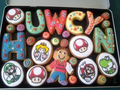 A playful cookie gift box for Huwcyn #cookies #baking #gift