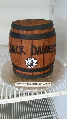Jack Daniel's barrel that we did recently! This cake was so much fun to make!