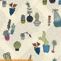 Succulents, 40234-X, Windham Fabrics